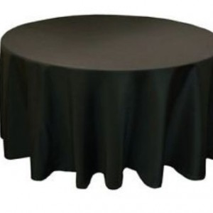 black round cotton table cloth