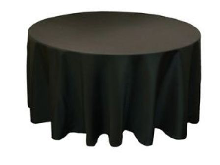 black round cotton table...
