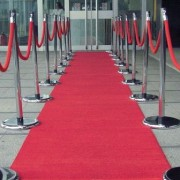 red wedding aisle carpet...