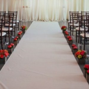 wedding aisle carpet runner hire 1