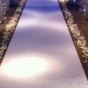 wedding aisle carpet runner...