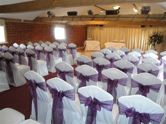 white cotton chair covers