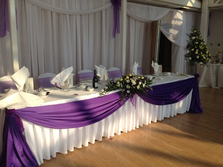 Head Table Backdrop Chair Covers 4 Hire London